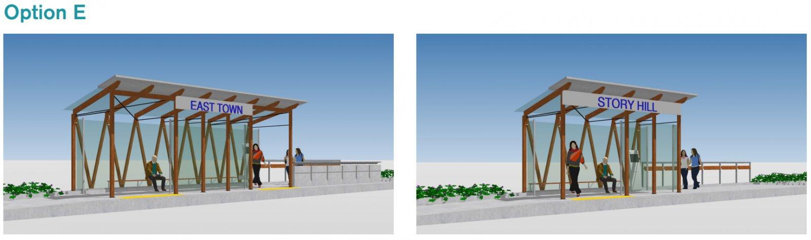 BRT Station Option E