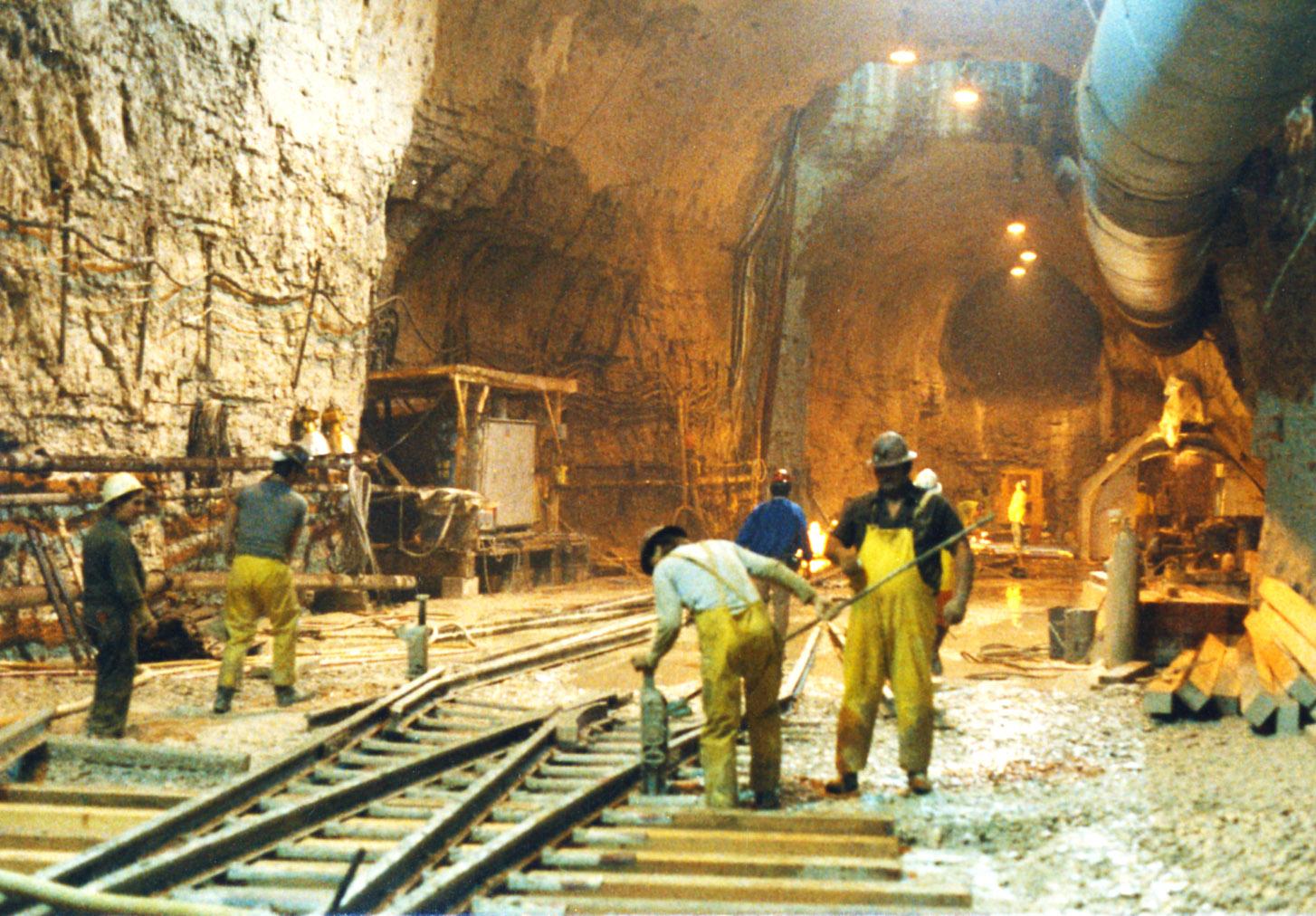 Deep Tunnel construction.