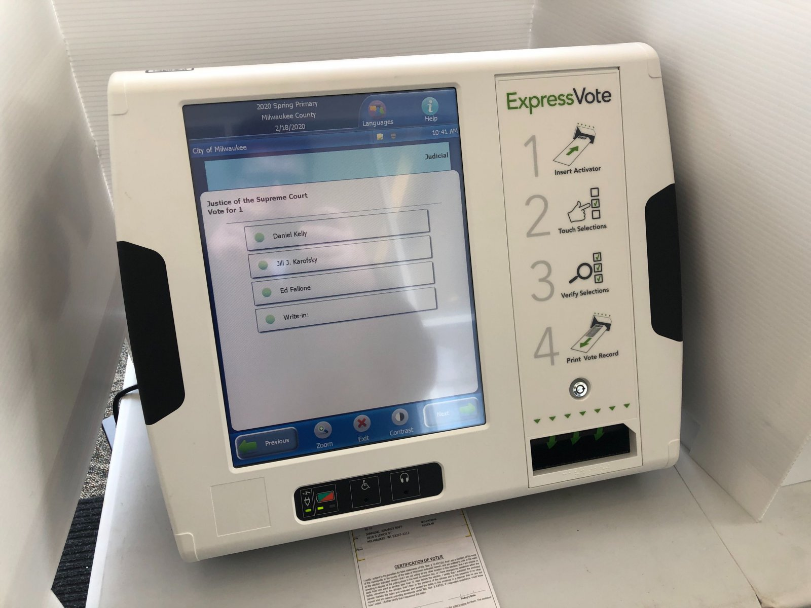 ExpressVote Machine