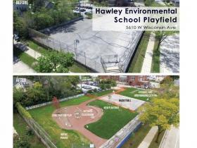 Hawley Environmental School Playfield