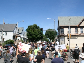 March down Locust Street