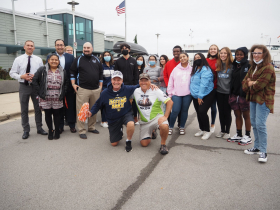 Mark Scotch With Students and Supporters from St. Thomas More High School
