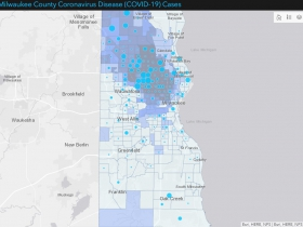 March 25th Date (295 Cases) - Census Tracts Shaded by African American Population
