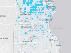 March 27th COVID-19 Milwaukee County Case Map