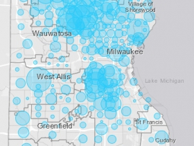 April 16th COVID-19 Milwaukee County Case Map