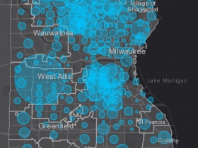 April 21st COVID-19 Milwaukee County Case Map