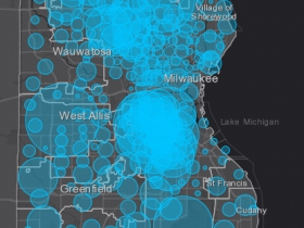 May 5 COVID-19 Milwaukee County Case Map