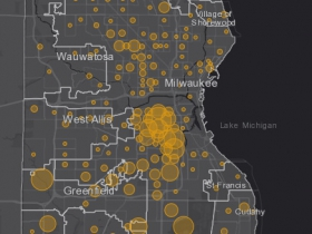 May 6 COVID-19 Milwaukee County - New Cases in Last 7 Days