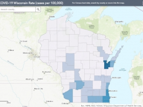 May 6 COVID-19 Wisconsin Case Map