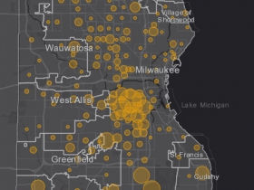 May 9 COVID-19 Milwaukee County - New Cases in Last 7 Days
