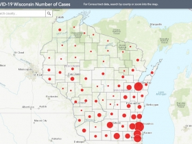 May 9 COVID-19 Wisconsin Case Map