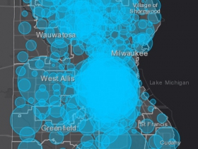 May 15 COVID-19 Milwaukee County Case Map