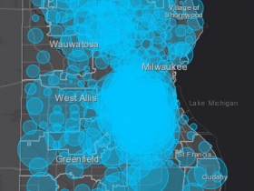 May 16 COVID-19 Milwaukee County Case Map
