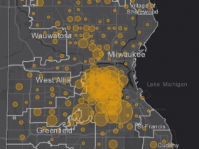 May 17 COVID-19 Milwaukee County - New Cases in Last 7 Days