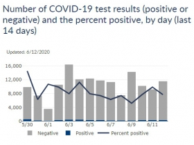 COVID-19 Last 14 Days in Wisconsin