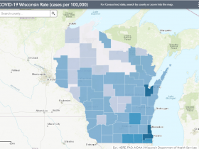 June 29 COVID-19 Wisconsin Cases Per 100,000 Residents Map