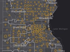 August 5th COVID-19 Milwaukee County - New Cases in Last 7 Days