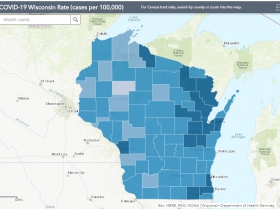 October 2nd COVID-19 Wisconsin Cases Per 100,000 Residents Map