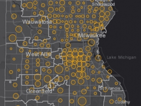 October 15th COVID-19 Milwaukee County - New Cases in Last 7 Days