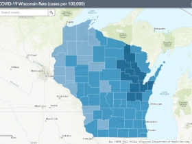 October 29th COVID-19 Wisconsin Cases Per 100,000 Residents Map