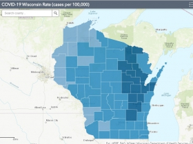 November 2nd COVID-19 Wisconsin Cases Per 100,000 Residents Map