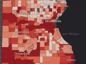 November 12th COVID-19 Milwaukee County - New Cases in Last 7 Days