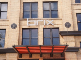 Brix Apartment Lofts Signage