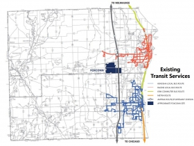Existing Transit Service in Racine County