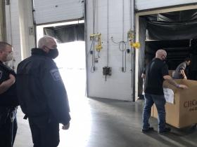 Deputies Watching Ballot Offloading - Recount 2020