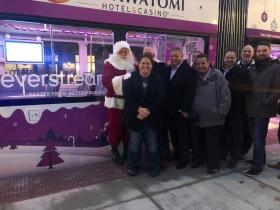 Everstream Team with Santa