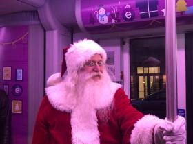 Santa on a Streetcar