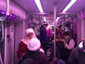 Santa Greets Riders