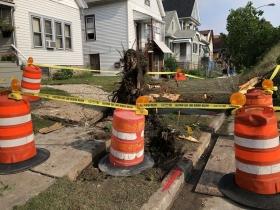 Destroyed Sidewalk