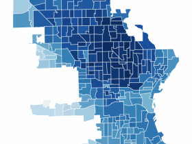 2020 Milwaukee Presidential Vote Margin Map