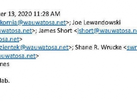 Emails in the inboxes of Wauwatosa SOG detectives discussing the cell phones of protesters