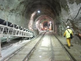 Staging area conveyor.