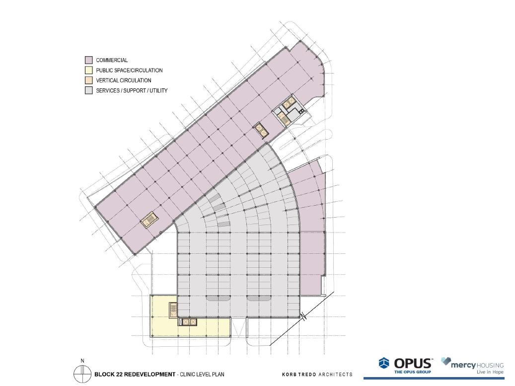 Park East Block 22 Redevelopment clinic level plan.