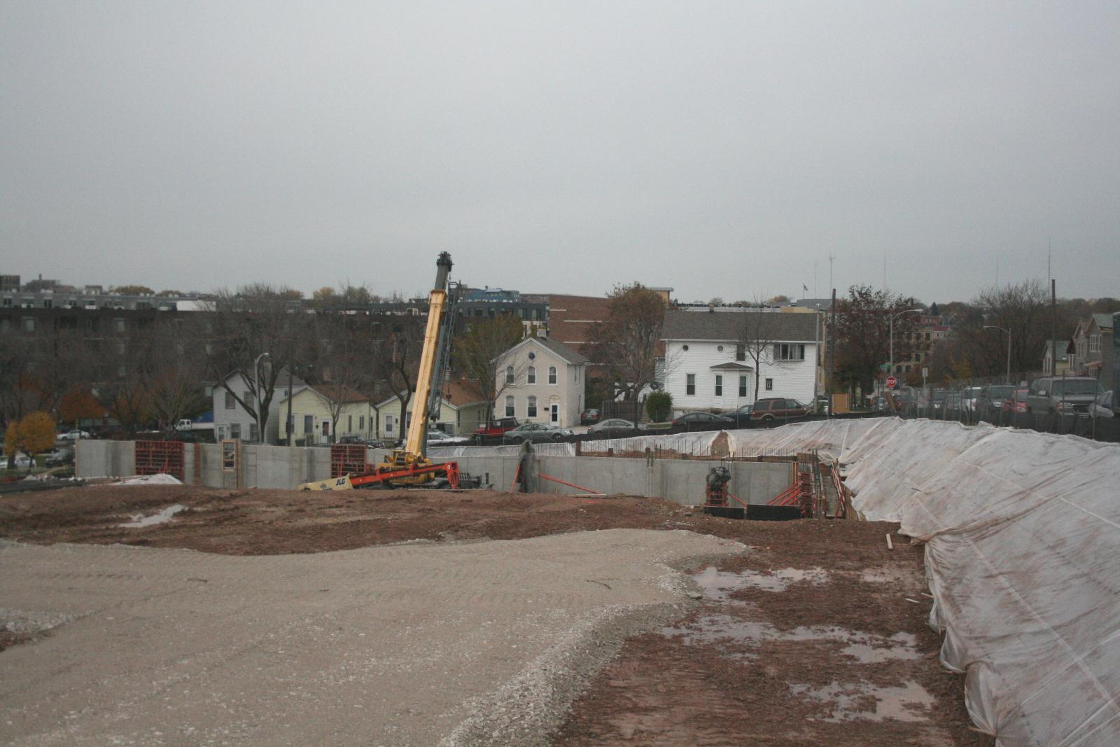 The Avenir construction site.