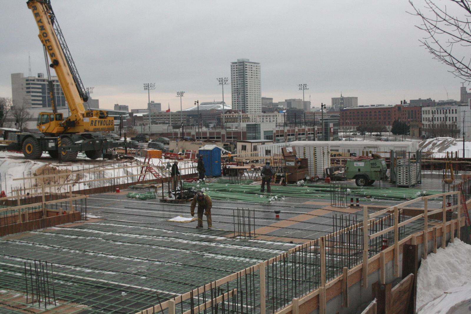 The Avenir is under construction.