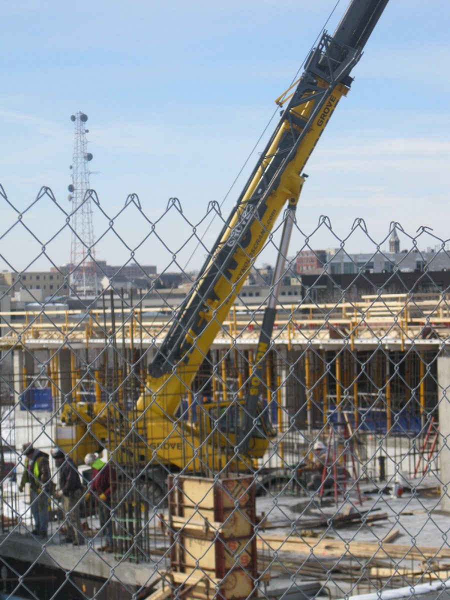 Just one of what will be many cranes in the Park East in 2014.