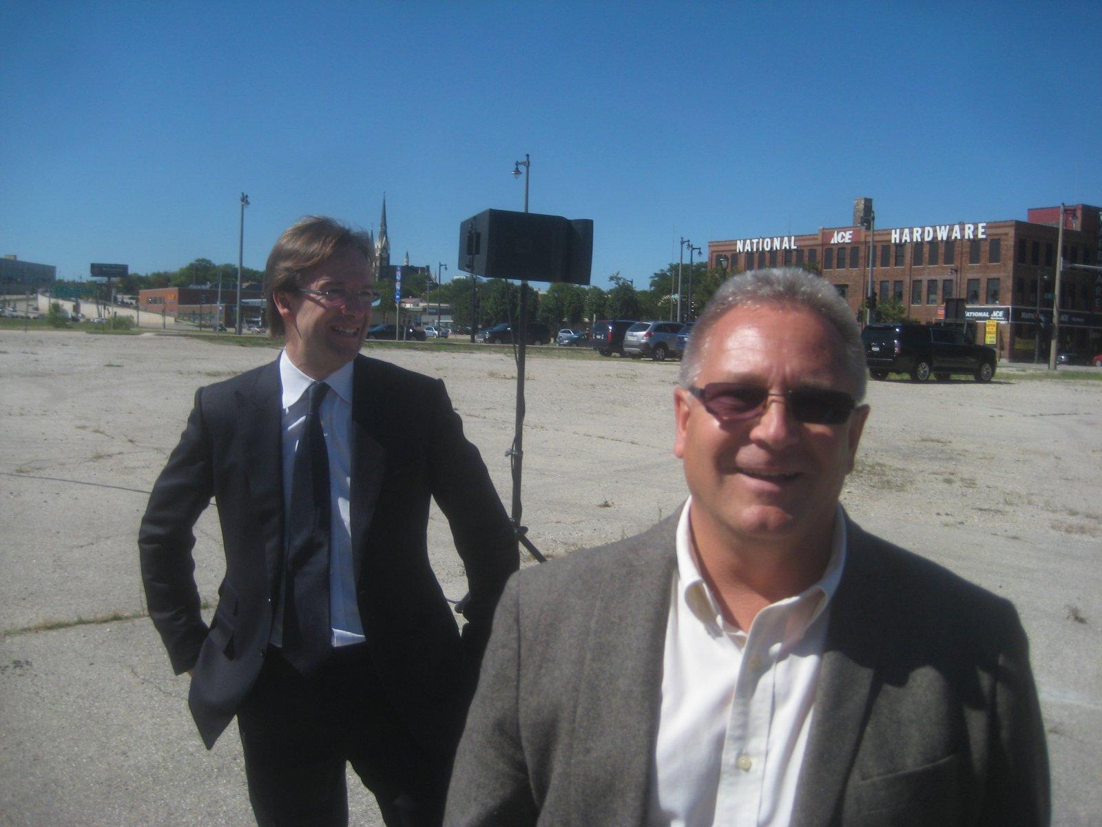 Chris Abele and Dan Bukiewicz