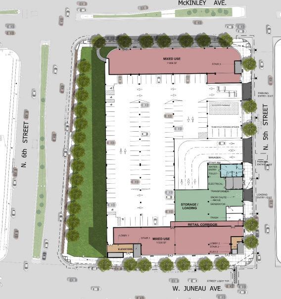 Site Plan for Parking Garage