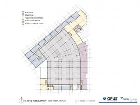 Park East Block 22 Redevelopment Ogden Street level plan.