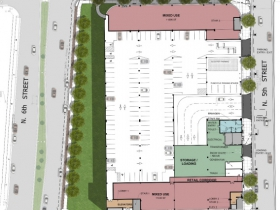 Site Plan for Parking Garage