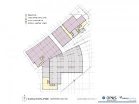 Park East Block 22 Redevelopment Water Street level plan.
