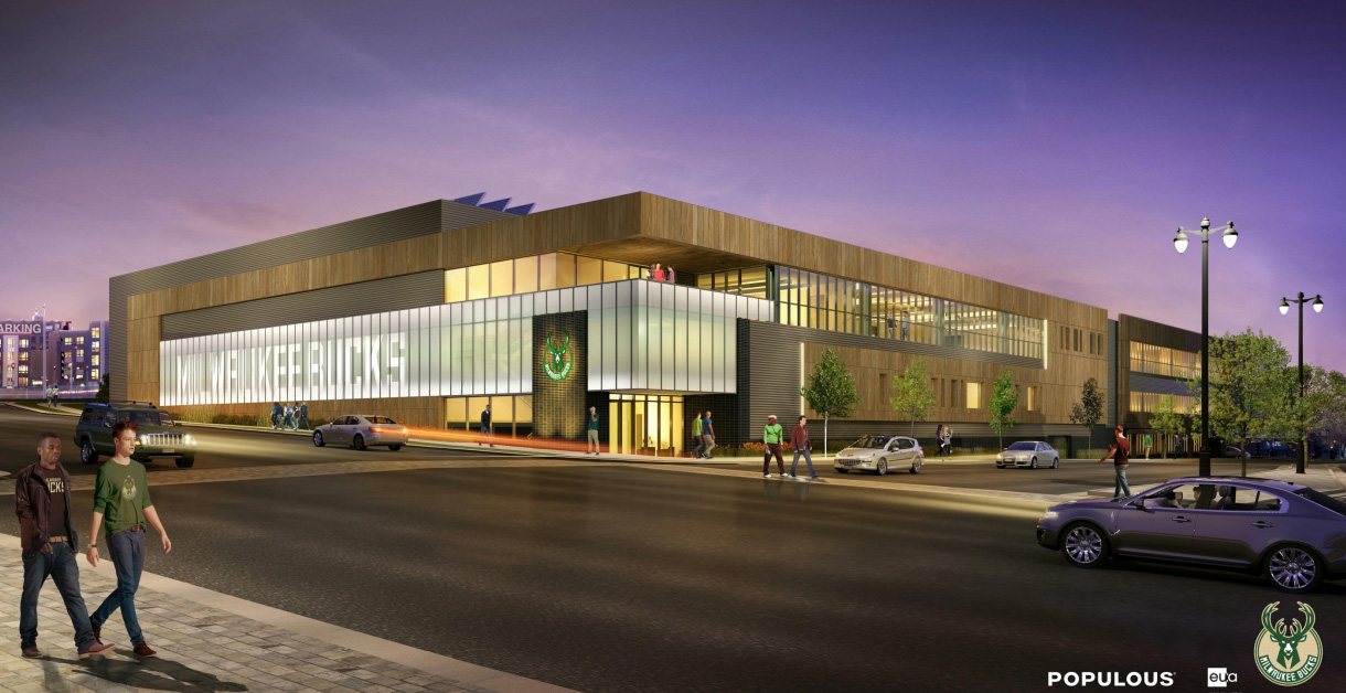 Friday photos bucks arena work prep urban milwaukee for Athletic training facility design