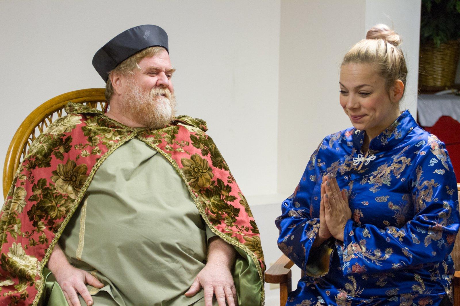 Emperor (Paul Pfannenstiel) and servant (Michelle White)