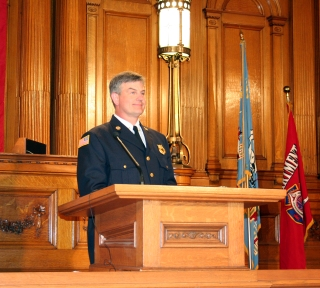 Milwaukee Fire Chief Mark Rohlfing