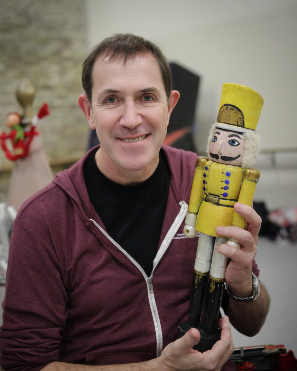 Michael Pink with nutcracker