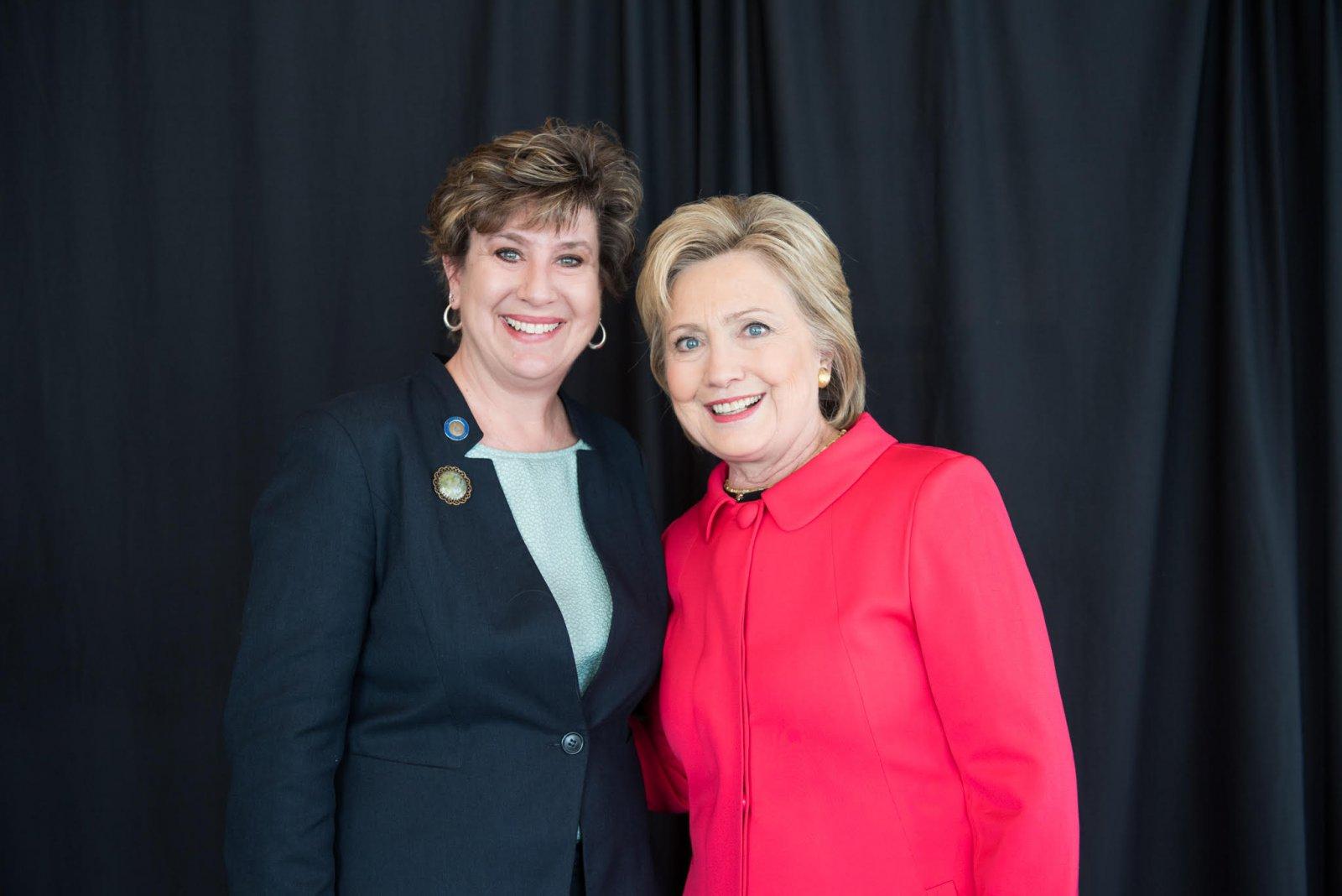 Jennifer Shilling and Hillary Clinton